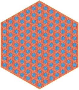 Moooi Carpet rood-blauw